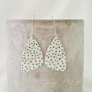 jade green dots | large asymmetrical triangle