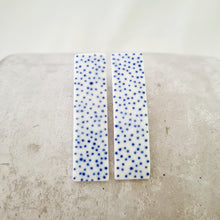 Load image into Gallery viewer, electric blue tiny dots | curved long column | studs
