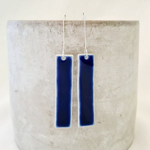 electric blue | long column | earrings