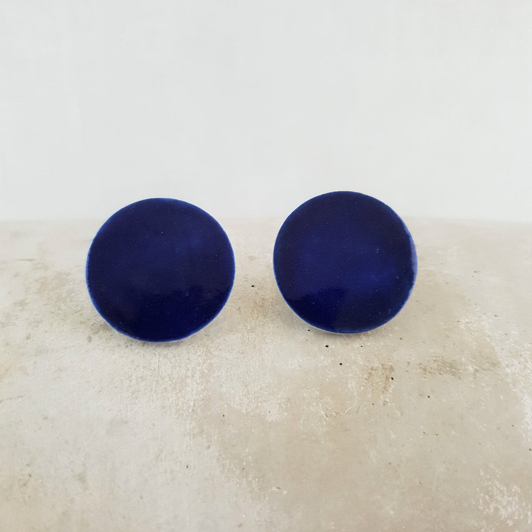 electric blue | large circle studs