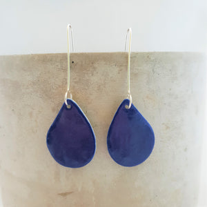 electric blue | rounded drop