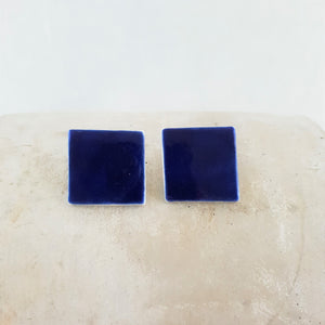 electric blue | large square | studs