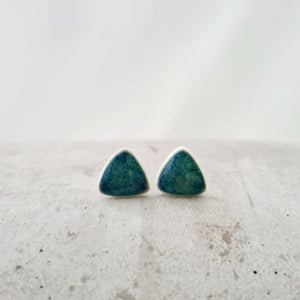emerald sea | tiny round triangles | small studs