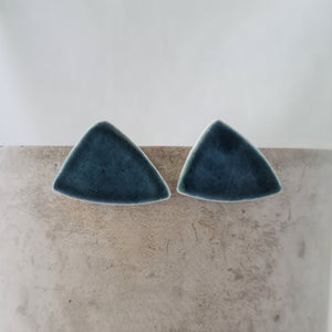 ink blue | sideways asymmetrical triangle | studs