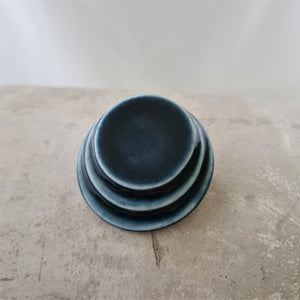 ink blue | layered circles | brooch