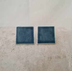 ink blue | large square | studs