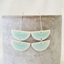 Load image into Gallery viewer, minty green | double chandelier drops