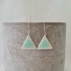 minty green | triangle | long drops