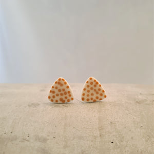 mustard yellow tiny dots | tiny round triangles | studs