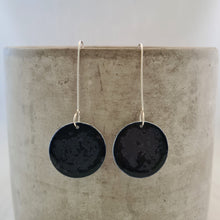 Load image into Gallery viewer, night sky navy | circle | earrings