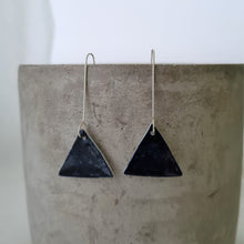 Load image into Gallery viewer, night sky navy | triangle | long drops | earrings
