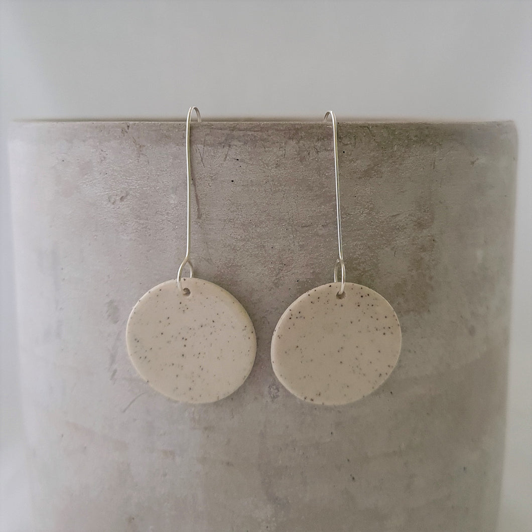 speckled clay | circle | earrings