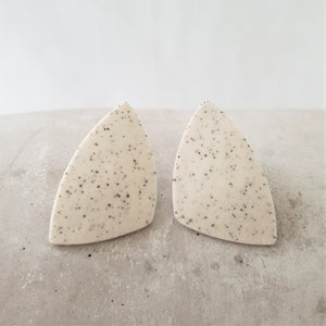 speckled | large asymmetrical triangle | studs