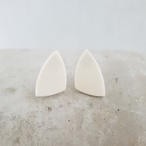 salt white | asymmetrical triangles | small studs