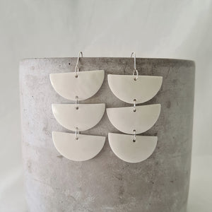 salt white | chandelier drops | earrings