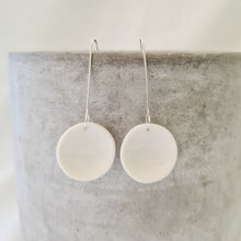 Load image into Gallery viewer, salt white | small concave circle | earrings