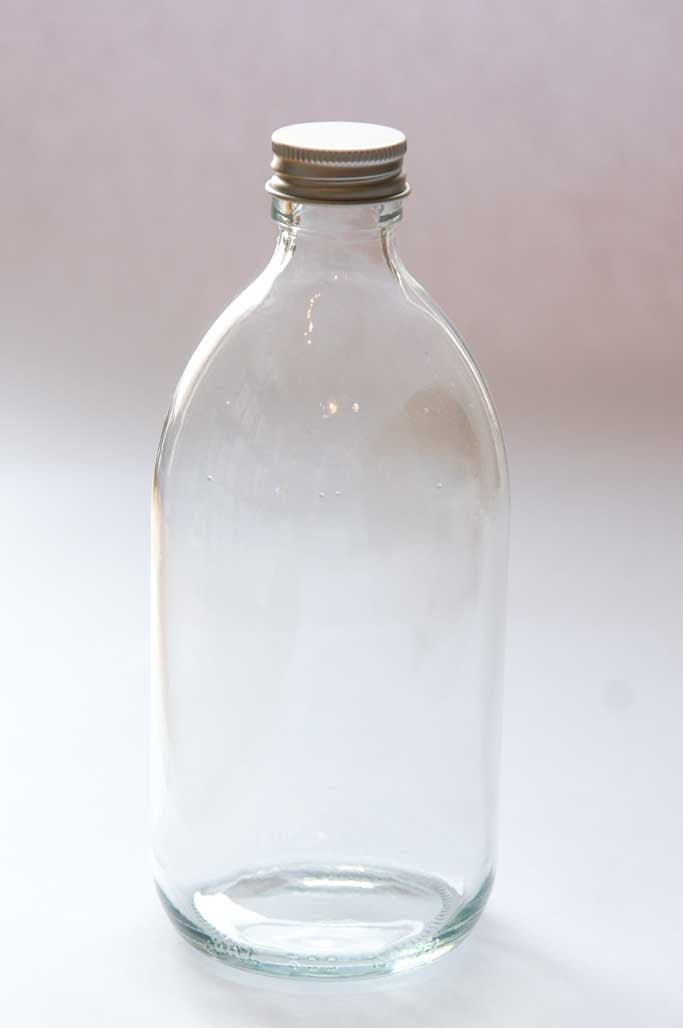 500ml clear bottle code 1305-Jars, bottles & bags-SproutTheGrocer
