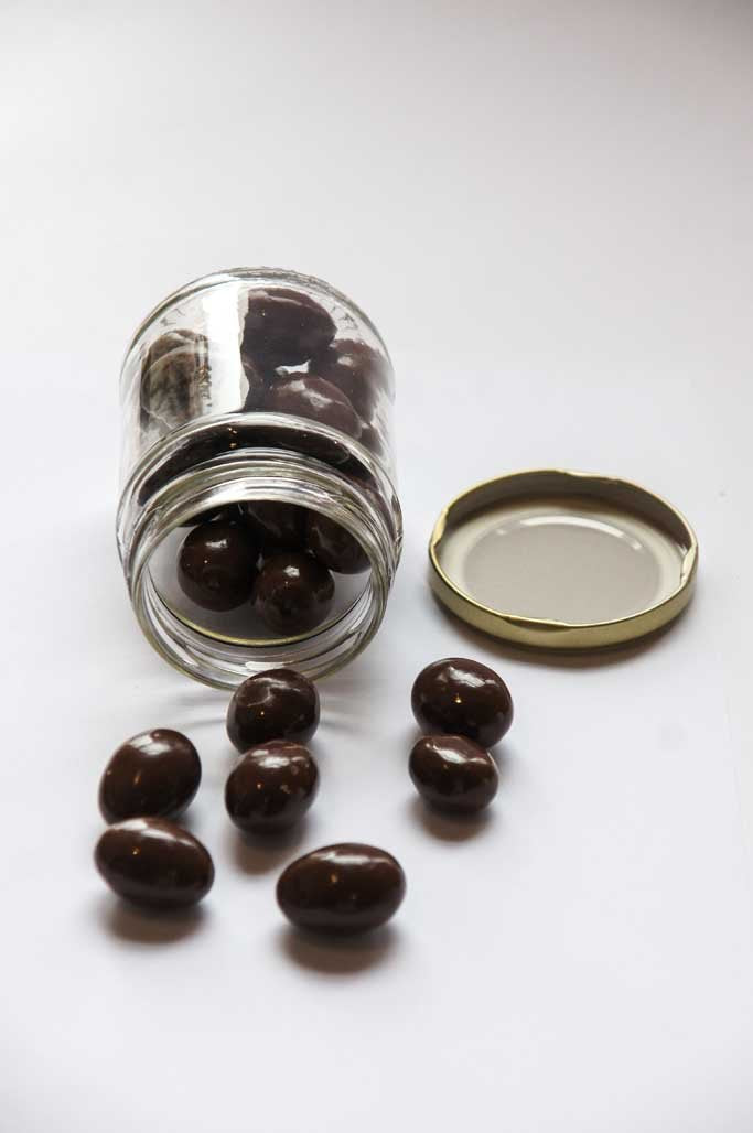 Chocolate Almonds Medium Jar-Sweets & Snacks-SproutTheGrocer