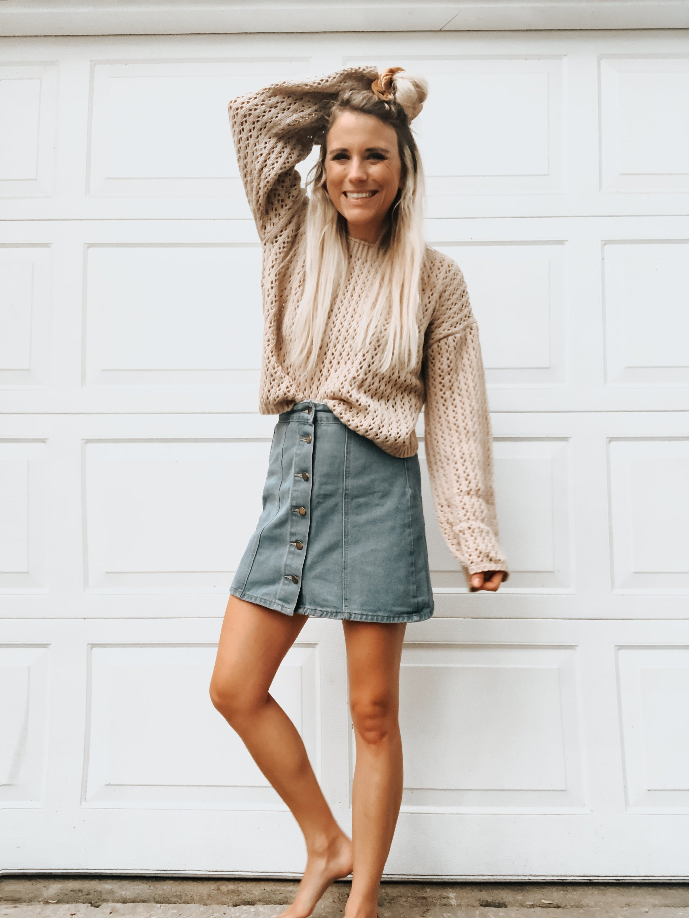 Carly Knit Crop Sweater
