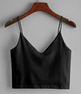 Black Cami Crop