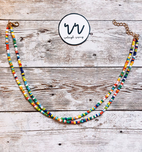 Rainbow Beaded Choker