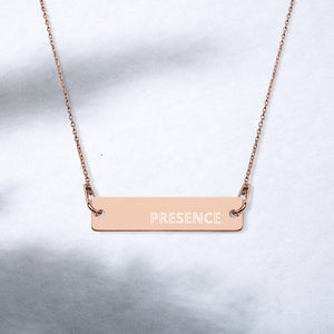 PRESENCE Affirmation Necklace