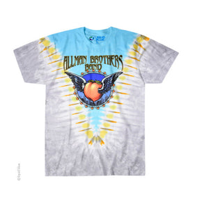 Allman Brothers Band Flying Peach Tie Dye Shirt