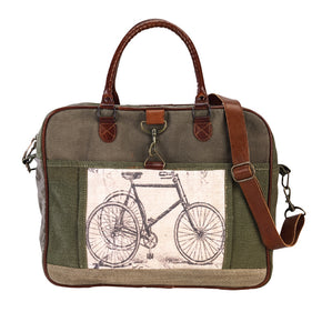 Bicycle Print Messenger Bag By Clea Ray