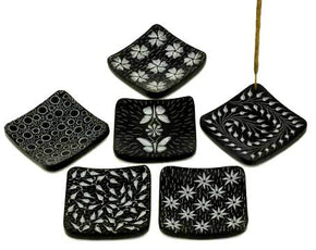 Black Stone Square Incense Burner