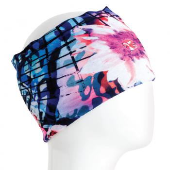 Blue and Pink Floral Bandana