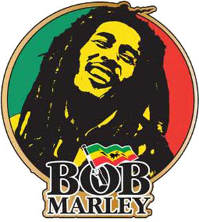 Bob Marley Circle Hat Pin