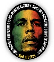 Bob Marley Emancipate Ourselves From Mental Slavery Sticker