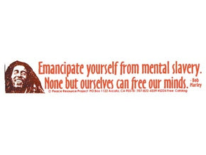 Bob Marley Emancipate Yourself From Mental Slavery Bumper Sticker