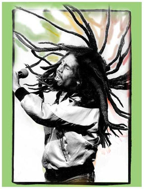 Bob Marley Flying Dreads Sticker