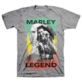Bob Marley Legend Brushed Grey T-Shirt