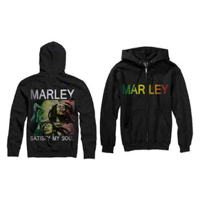 Bob Marley Satisfy My Soul Zip Up Hoodie