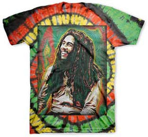 Bob Marley Tie Dye Spray T-Shirt