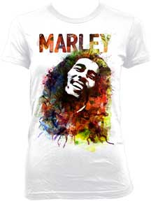 Bob Marley Watercolor Ladies T-Shirt