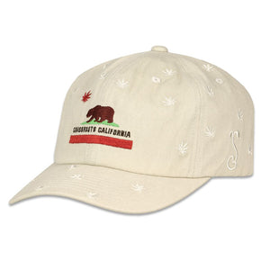 Cali Greens Flag Tan Dad Hat by Grassroots California