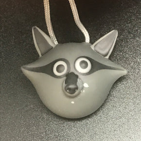 Chad G Glass Trash Panda Pendant