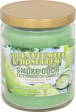 Cool Cucumber & Honeydew Smoke Odor Candle