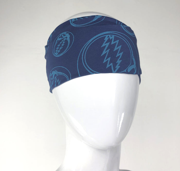 Cotton Lycra Flat Headband with Printed SYF by Jayli