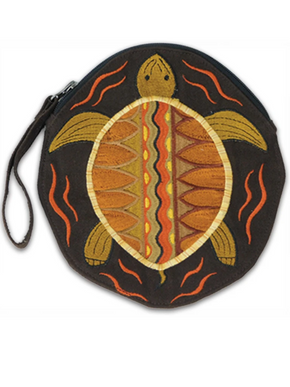 Embroidered Terrapin Disco Bag
