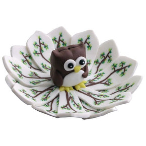 Fimo Round Owl Incense Burner