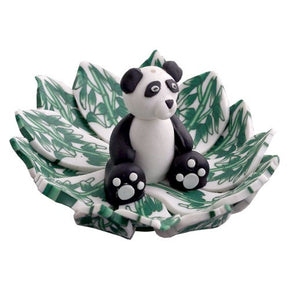 Fimo Round Panda Incense Burner