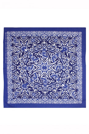 Grateful Dead Bear Mandala Bandana (Blue)