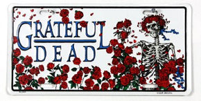 Grateful Dead Bertha & Roses License Plate