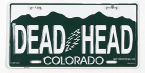 Grateful Dead Colorado Dead Head License Plate