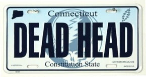 Grateful Dead Connecticut Dead Head License Plate