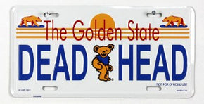 Grateful Dead California Dead Head License Plate